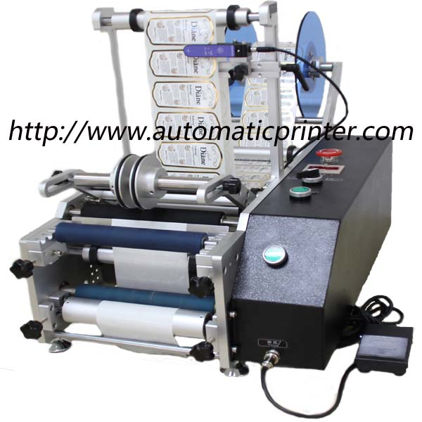 semi-auto round bottle labeling machine 2