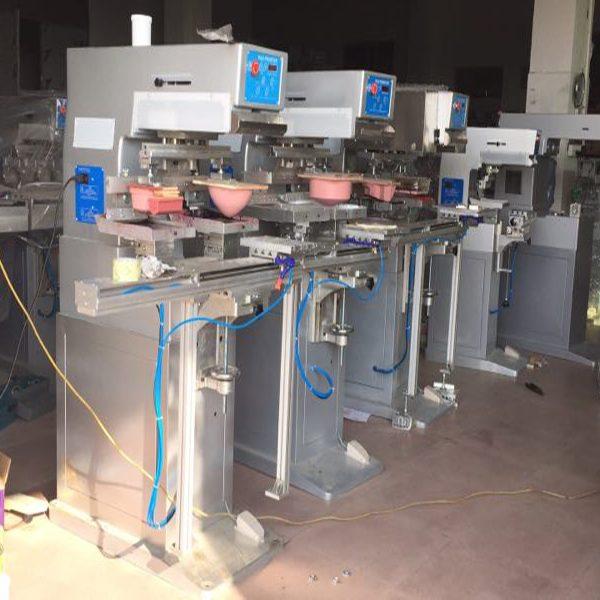 super big two colors dishes pad printing machine 3