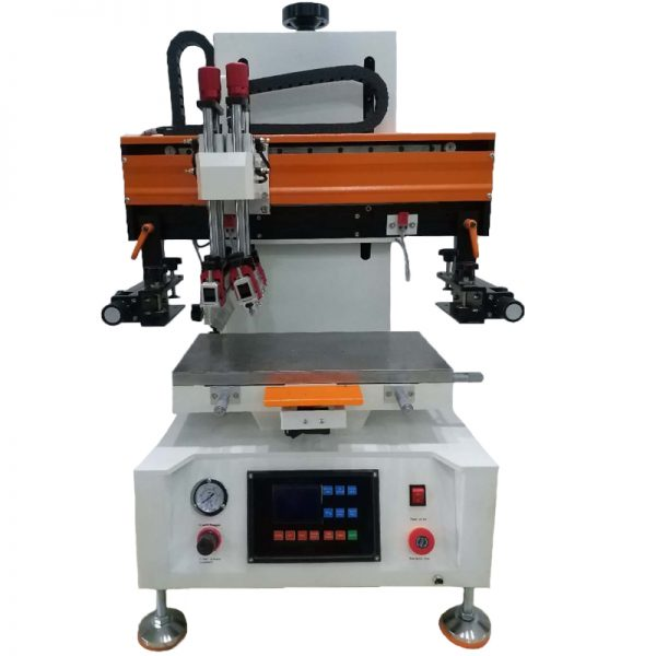 electronic flat bed screen printing machine